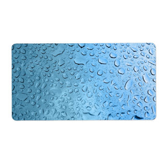 Blue Water Droplets Custom Shipping Label