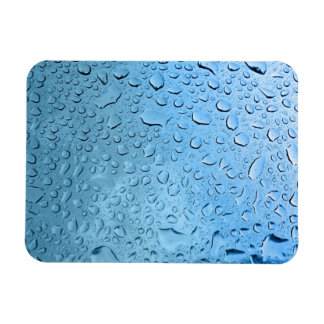 Blue Water Droplets Magnet