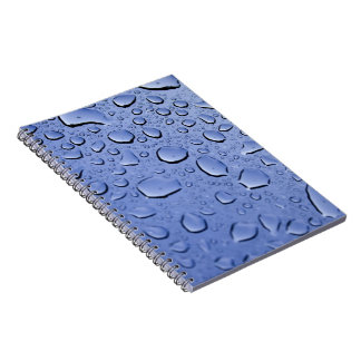 Blue Water Droplets Notebooks