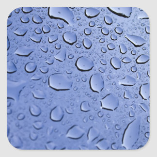 Blue Water Droplets Stickers