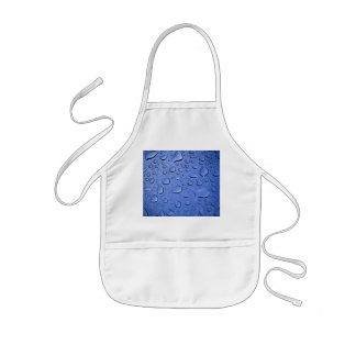 Blue Water Droplets Textured Kids' Apron