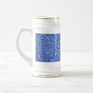Blue Water Droplets Textured Coffee Mug