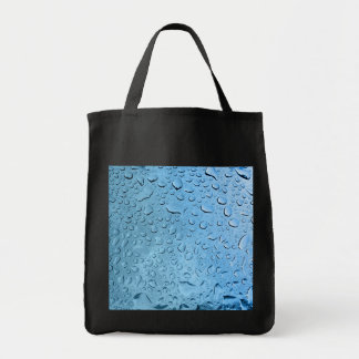 Blue Water Droplets Tote Bag