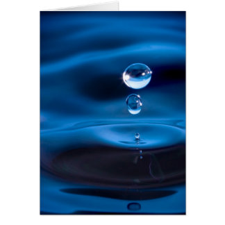 Blue Water Drops Card