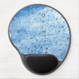 Blue Water Drops Gel Mousepad