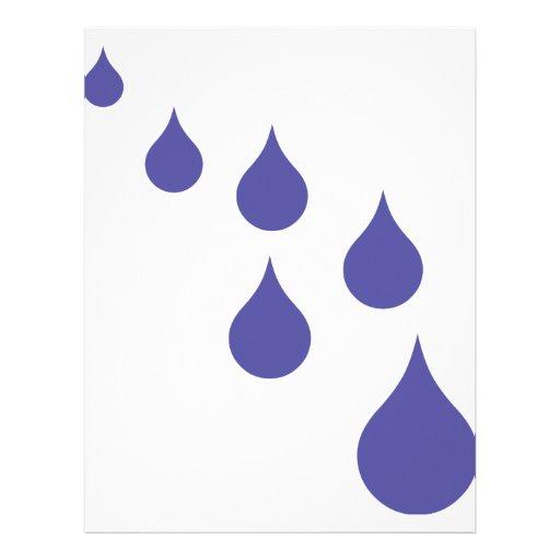 blue water drops icon letterhead design