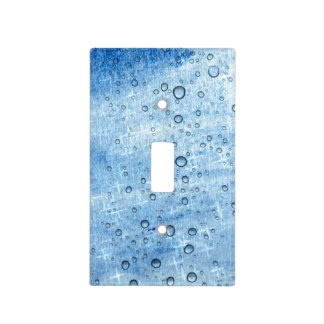 Blue Water Drops Light Switch Cover