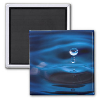 Blue Water Drops Magnet