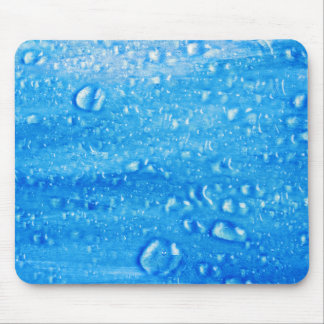 Blue Water Drops Mousepad