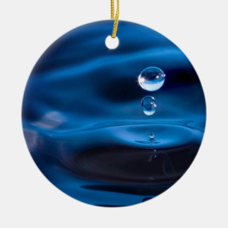 Blue Water Drops Christmas Ornaments