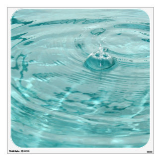 Blue water drops ripples Wall Decal