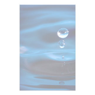 Blue Water Drops Stationery
