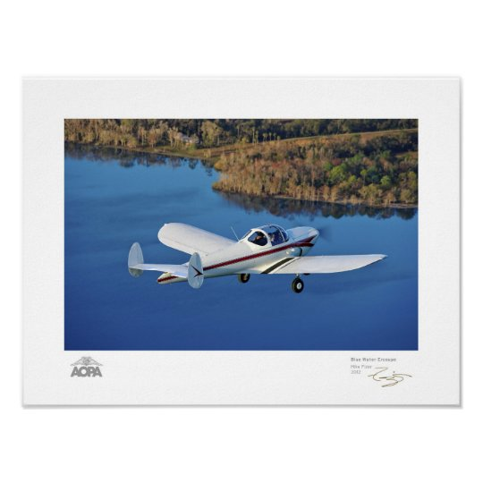 Blue Water Ercoupe Gallery Poster