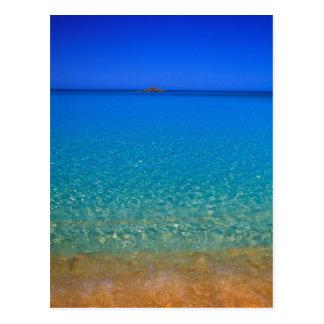 Blue water, Exuma Islands, Bahamas. Postcard