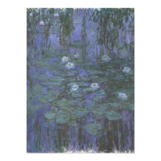 Blue Water Lilies by Claude Monet 6.5x8.75 Paper Invitation Card