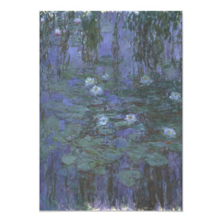 Blue Water Lilies by Claude Monet 5x7 Paper Invitation Card