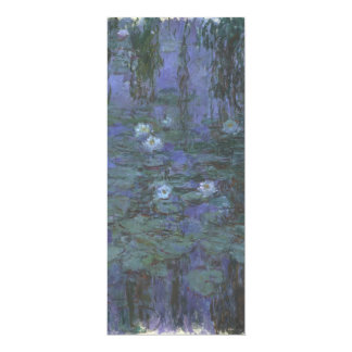 Blue Water Lilies by Claude Monet 4x9.25 Paper Invitation Card