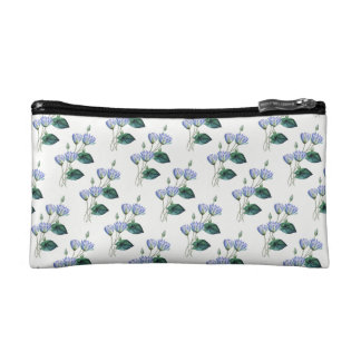 Blue Water Lilies Cosmetic Bag