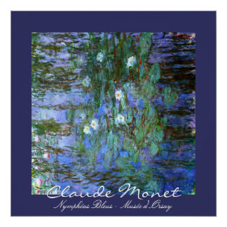 Blue Water-Lillies: Claude Monet Poster