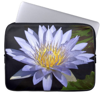 """Blue Water Lily 13"""" Laptop Sleeve"""