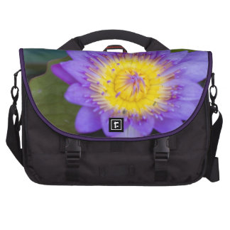 Blue Water Lily Bloom photo Bag For Laptop