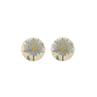 Blue Water Lily Earrings