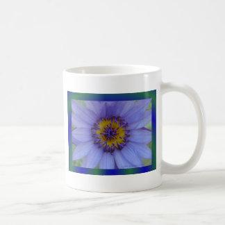 Blue Water Lily Flower Classic White Coffee Mug