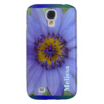 Blue Water Lily Flower Custom Name Speck Case Galaxy S4 Cover