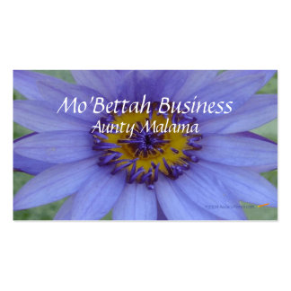 Blue Water Lily Flower Customizable Template Business Card