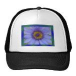 Blue Water Lily Flower Trucker Hats