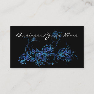 East asian business cards templates zazzle blue water lotus flower asian 2 business card colourmoves