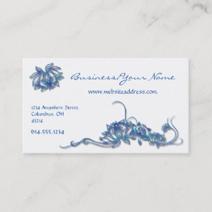 East asian business cards templates zazzle blue water lotus flowers asian business card colourmoves