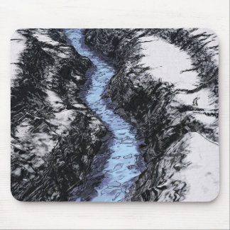 Blue Water On Ice Mouse Pad