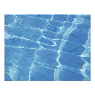 """Blue water pattern 8.5"""" x 11"""" flyer"""