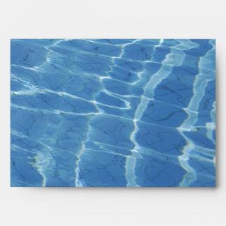 Blue water pattern envelope