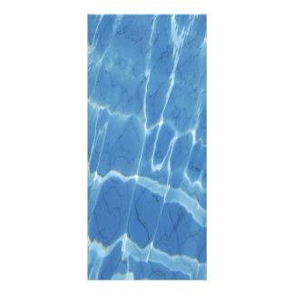 Blue water pattern rack card