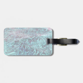 blue water plants under pond water bag tag