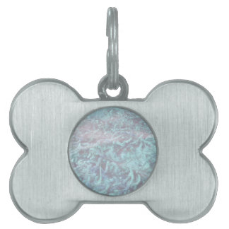 blue water plants under pond water pet tag