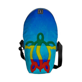 Blue Water Rasta Honu Courier Bag