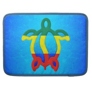 Blue Water Rasta Honu Sleeves For MacBook Pro