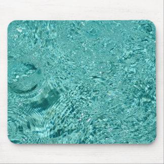 Blue water ripples drops Mousepad