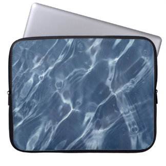 Blue Water Ripples Laptop Sleeve