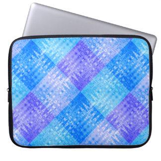 Blue Water Ripples Organic Checkerboard Pattern Laptop Sleeve