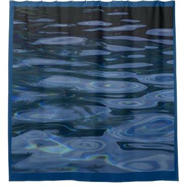 Ocean Themed BLUE WATER RIPPLES SHOWER CURTAIN