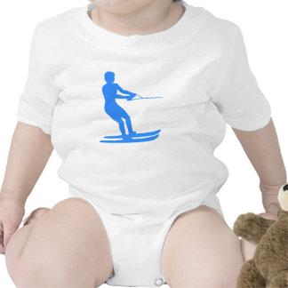 Blue Water Skier Silhouette Romper