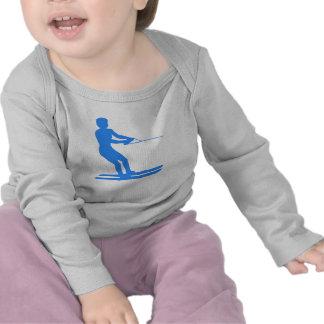 Blue Water Skier Silhouette T-shirt