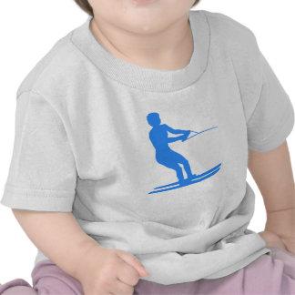 Blue Water Skier Silhouette T Shirt