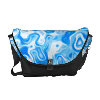 Blue Water Swirls Courier Bag
