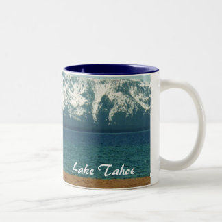 Blue Water Tahoe Cup/Mug **PERSONALIZE!! Two-Tone Coffee Mug