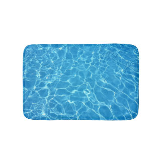 Blue Water Texture Bathroom Mat